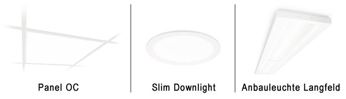 CoreLine Panel, Slim Downlight, Anbauleuchte