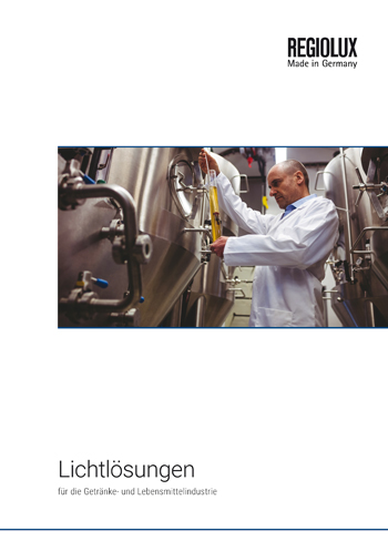 Broschüre Lichtlösungen für die Getränke- und Lebensmittelindustrie