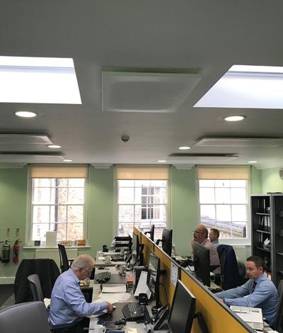 Arbeitsplatzbeheizung London Büro
