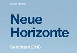 Hager Seminare 2018 Neue Horizonte