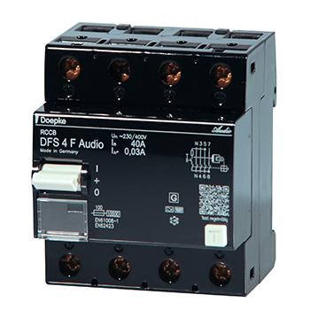 Fehlerstromschutzschalter DFS Audio (RCCB Typ F)