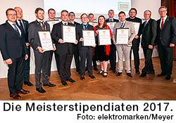 Die Meisterstipendiaten 2017.