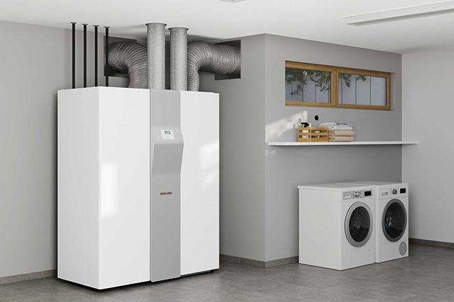 Wärmepumpe, Lüftung und Warmwasserspeicher