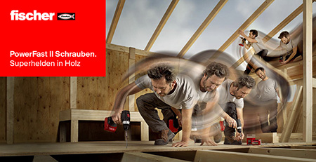 PowerFast II Schrauben. Superhelden in Holz