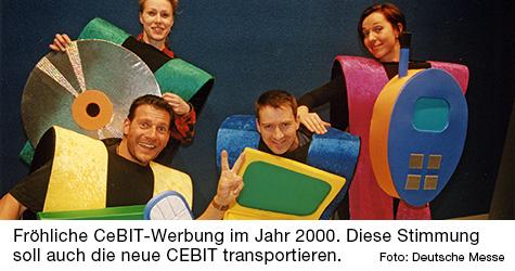 CeBIT-Werbung im Jahr 2000.