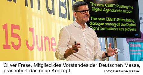 Oliver Frese, Mitglied des Vorstandes der Deutschen Messe.