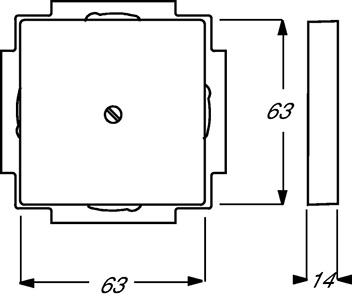 Вывод кабельный solo/fut. черн. бархат ABB 1710-0-3900 купить в интернет-магазине RS24