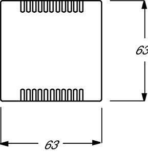 Плата центральная (накладка) для усилителя мощности светорегулятора 6594 U KNX-ТР 6134/10 и цоколя 6930/01 solo/future черн. бархат ABB 2CKA006599A2967 купить в интернет-магазине RS24