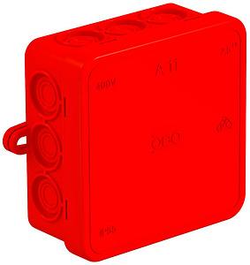 Kötődoboz 85x85 mm üres IP54 piros OBO A11/HF RT