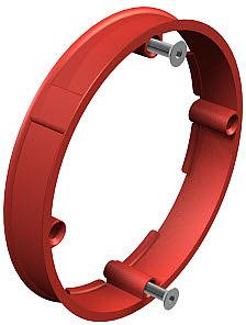 Vakolatkiegyenlítő gyűrű 60mm, H12mm, sülly. piros