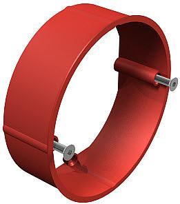 Vakolatkiegyenlítő gyűrű 60mm, H24mm, sülly. piros