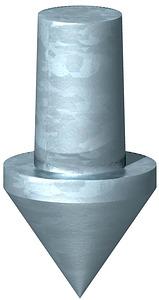 Földelôhegy földelôhöz 20mm 1