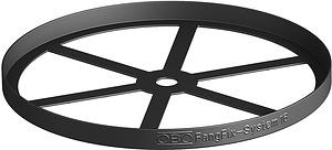 Peremvédő alátétlemez FangFix-hez 16kg PP fekete OBO F-FIX-B16 3B