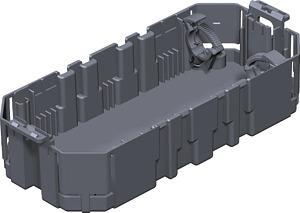 Ack.padlódoboz szerelv.kehely GB2, 2férőhelyes