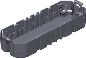 Ack.padlódoboz szerelv.kehely GB3, 3férőhelyes