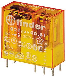(A) Miniature relay 1CO 16A 230VAC, 40618230