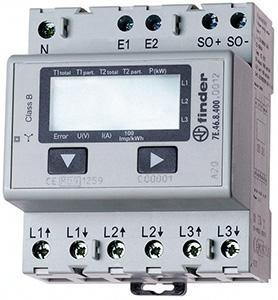 Fogy.mérő LCD 3F 3x65A o:1/B Hsínre patt. 4M kWh/P/A/V imp.