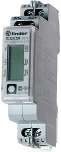 Fogy.mérő LCD 1f 32A o:1/B H sínre patt. 1M kWh/P/A/V imp.