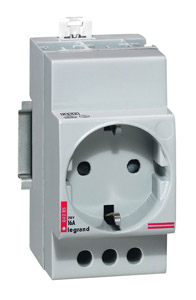 (A) Socket 2P+E DIN rail, 04285