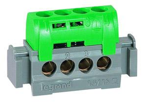 Lexic elosztókapocs IP2 4 védő csatlakozás zöld
