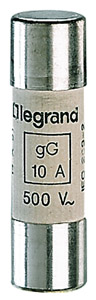 Lexic hengeres olvadóbiztosító 10A gG 8,5 x31,5 kiolvadás jelző nélkül