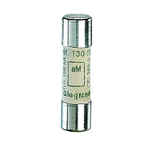 Lexic hengeres olvadóbiztosító 0,5A aM 10 x38 ütőszeg nélkül