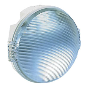 Koro hajólámpa kerek fehér, E27, 100W, IP55, normál izzós