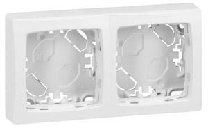 Oteo falon kívüli kettős keret fehér