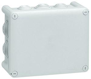 Plexo doboz 180x140x86 IP55, 10 kábelbevezető