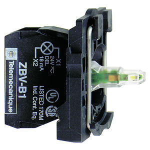 LED-es jelzőlámpa aljzat zöld, 24-120V