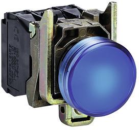 LED-es jelzőlámpa, kék, 24V