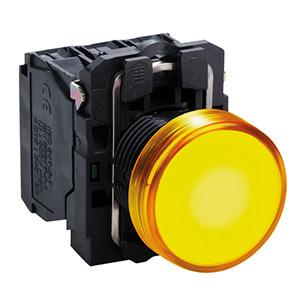 LED-es jelzőlámpa, sárga, 120V