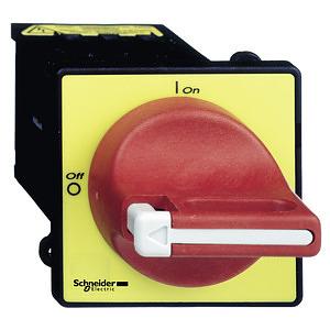 Fő- és vészleállító kapcsoló, ajtóra szerelt, átm. 22.5mm, 12A