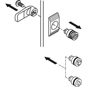 3MM kettős zárbetét CRN