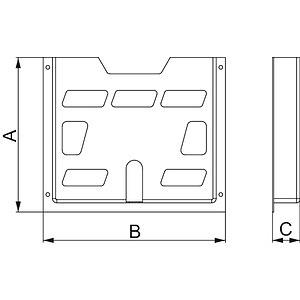 A5 műanyag dokumentum tartó D22