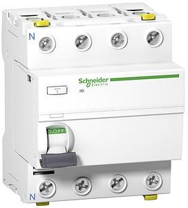 ACTI9 iID áram-védőkapcsoló, A osztály, 4P, 25A, 30mA