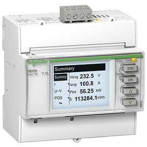 Teljesítménymérő I,In,U,V,PQS,E,PF,Hz,átlag, MODBUS