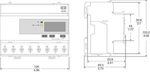 Digitális fogyasztásmérő, 3F, 63A, impulzus, MID