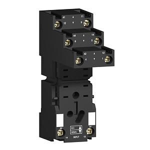 RXM miniatűr relé foglalat, RXM2x relékhez, szeparált elrendezésű, csatlakozós