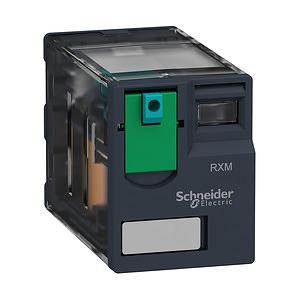 RXM miniatűr relé, 4CO, 6A, 24VDC, tesztgomb
