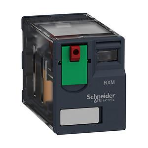 RXM miniatűr relé, 4CO, 6A, 24VAC, tesztgomb