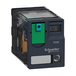 RXM miniatűr relé, 3CO, 10A, 24VDC, tesztgomb, LED