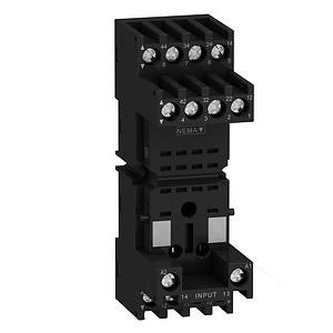 RXM miniatűr relé foglalat, vegyes elrendezésű, csatlakozós