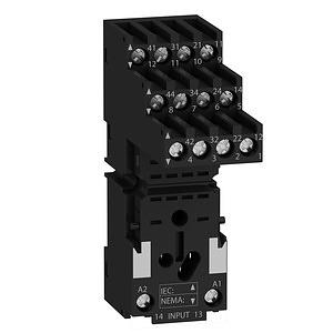 RXM miniatűr relé foglalat, RXM4x relékhez, szeparált elrendezésű, csatlakozós