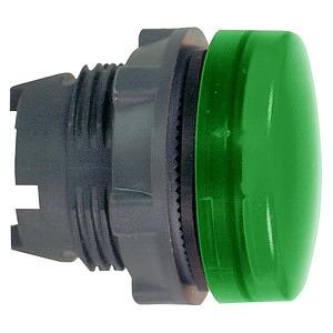 Lámpafej sikban,BA9s izzóhoz,zöld***