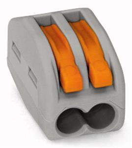 Vezetékösszekötő 2x0.08-4mm2 oldható