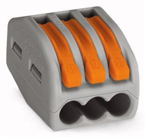 Vezetékösszekötő 3x0.08-4mm2 oldható WAGO