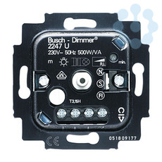 Механизм светорегулятора 500Вт для л/н; н/в гал. ламп ABB 6512-0-0057 купить в интернет-магазине RS24