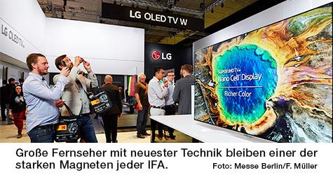 Messefoto LG Fernseher