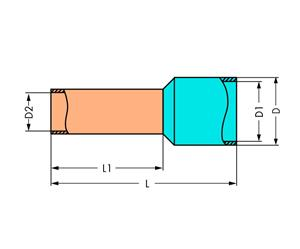Наконечник втулочный изолированный 0.8-2мм зел. (уп.1000шт) WAGO 216-302 купить в интернет-магазине RS24